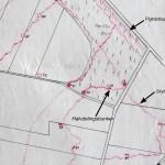 <!--:da-->Dansk skitse over skyttegravssystemet i  Kalby Plantage, 1921.<!--:--> <!--:de-->Dänische Skizze vom Schützengrabensystem in der Kalby Plantage, 1921.<!--:--> <!--:en-->Danish sketch of the trench system at Kalby Woods, 1921.<!--:-->