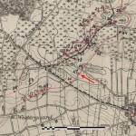 Kort fra den danske rekognoscering af stillingen, 1921.
