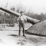 <!--:da-->24 cm kanon i pansertårn, Gammelskovbatteri.<!--:-->