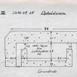 <!--:da-->Dansk plantegning af halvdelingsbunker i Kalby Plantage, 1921.<!--:--> <!--:de-->Dänische Planzeichnung vom Halbzugbunker, Kalby Plantage, 1921<!--:--> <!--:en-->Danish plan of the machine gun bunker at Kalby Woods, 1921.<!--:-->