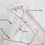 <!--:da-->Dansk skitse over skyttegravssystemet i Kalby Skov, 1921.<!--:--> <!--:de-->Dänische Skizze vom Schützengrabensystem in der Kalby Plantage, 1921.<!--:--> <!--:en-->Danish sketch of the trench system at Kalby Woods, 1921.<!--:-->