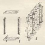 """<!--:da-->Tegning af mineramme.<!--:--> <!--:de-->Zeichnung von """"mineramme"""".<!--:--> <!--:en-->Drawing of pit prop frame.<!--:-->"""