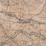 <!--:da-->Tysk kort med planlagte opstemninger af Gelså.<!--:--> <!--:de-->Ausschnitt einer deutschen Stellungskarte mit den geplanten Stauungen der Gels Au.<!--:--> <!--:en-->Section of German position map with the planned damming of the River Gels.<!--:-->