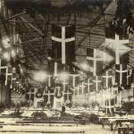 Flyhangaren pyntet op til fest, 1932.