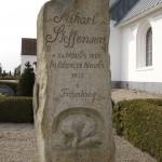 <!--:da-->Mikael Steffensens gravsten, Hammelev Kirke.<!--:--> <!--:de-->Mikael Steffensens Grabstein, Hammeleff Kirche.<!--:--> <!--:en-->Mikael Steffensen's headstone, Hammelev Church.<!--:-->